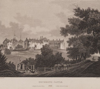 Scotia_Depicta_-_Drummond_Castle_-Plate-wikipedia natl. lib scotland