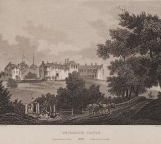 Scotia_Depicta_-_Drummond_Castle_-Plate-wikipedia natl. lib scotland